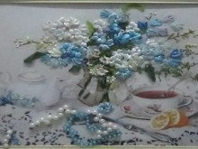 fibbon embroidery for flowers picture