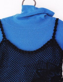 crochet fishnet lace top for girl