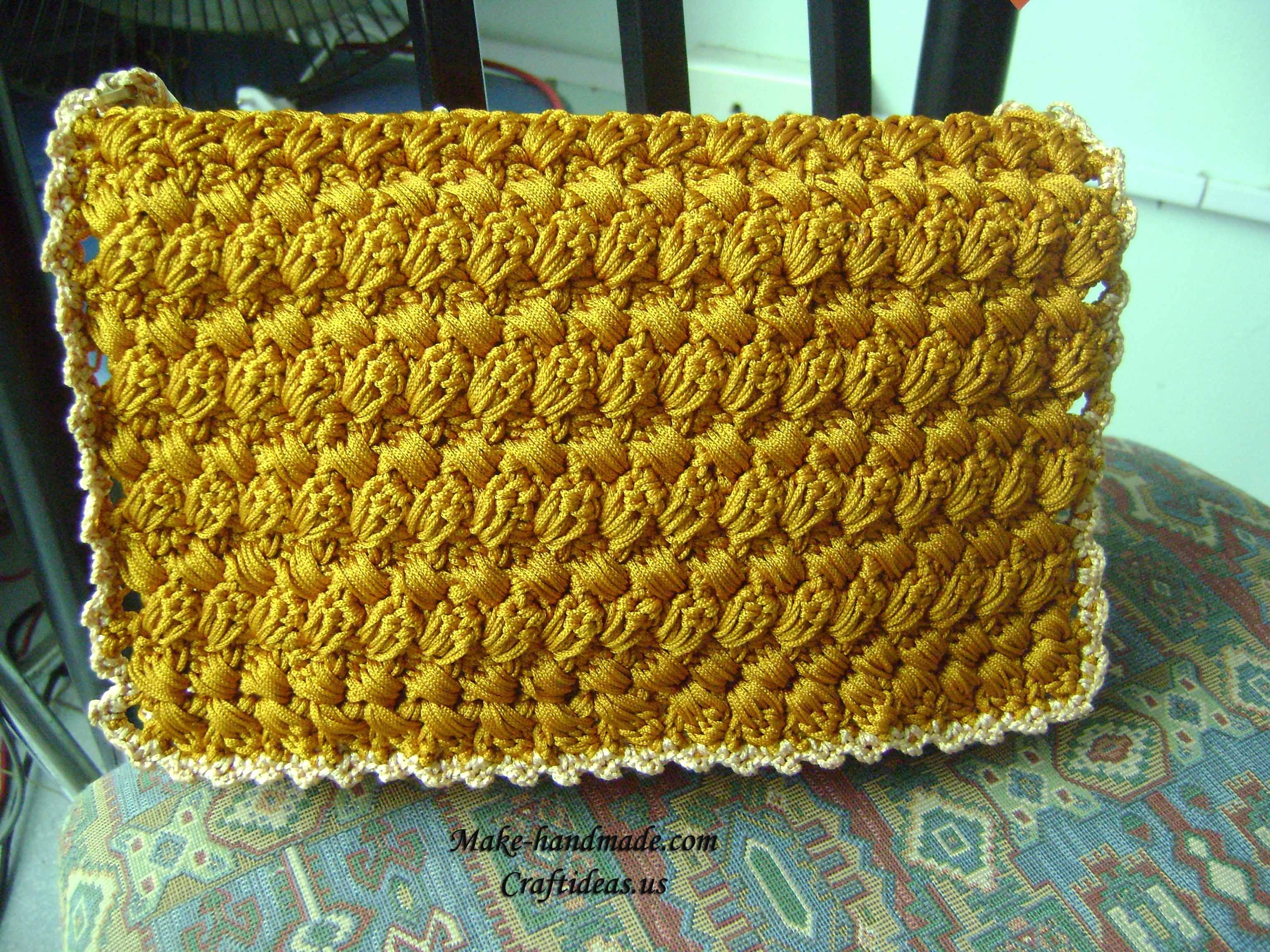 Crochet cute purse and handbag for women