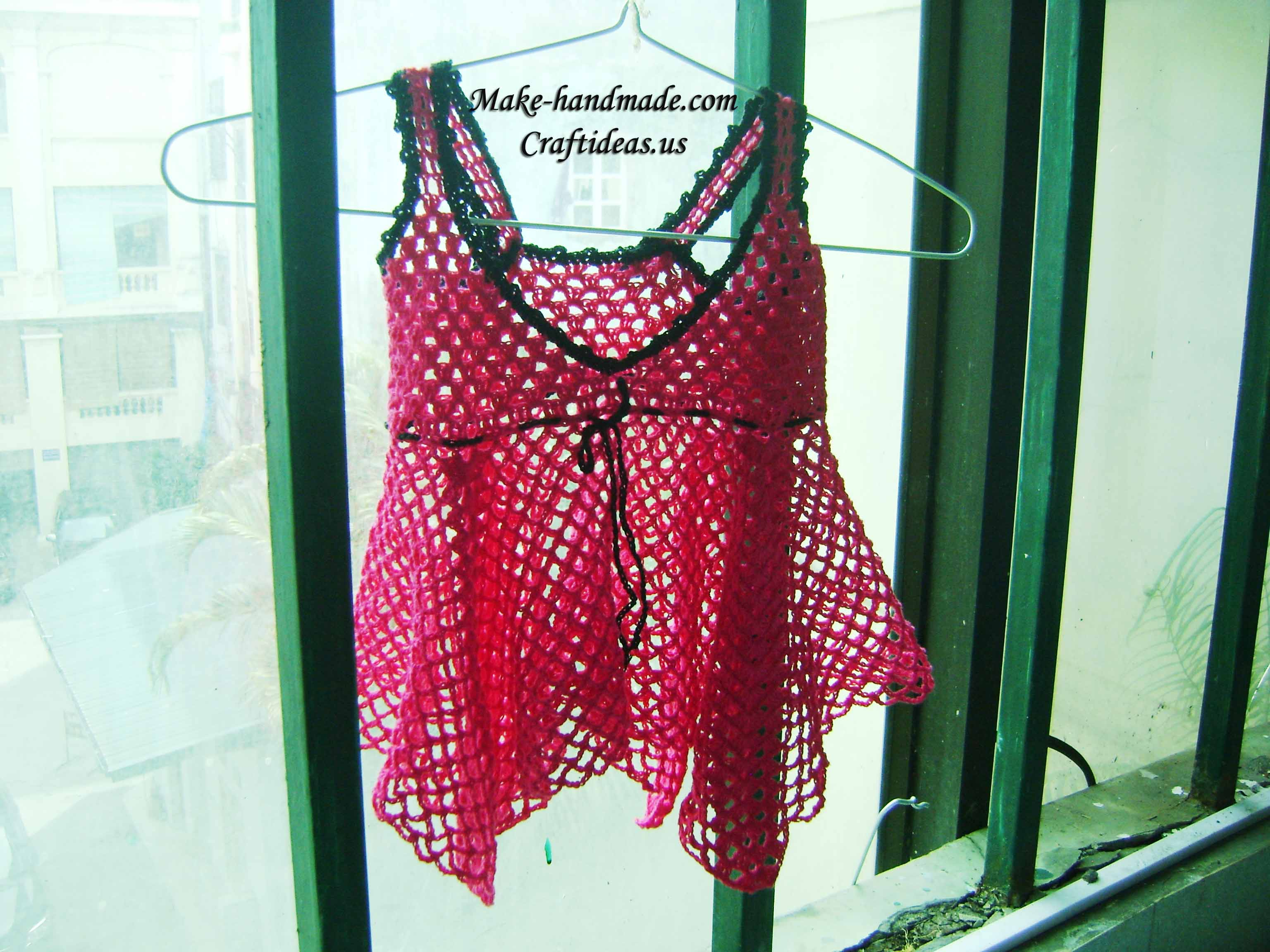 Crochet so beauty summer lace top for little girl