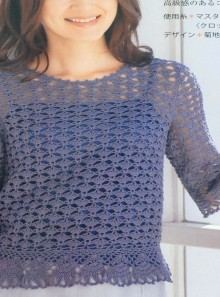 crochet beauty summer pullover for ladies