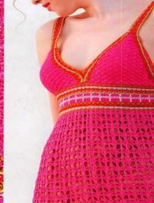 crochet charming dress for beach and summer