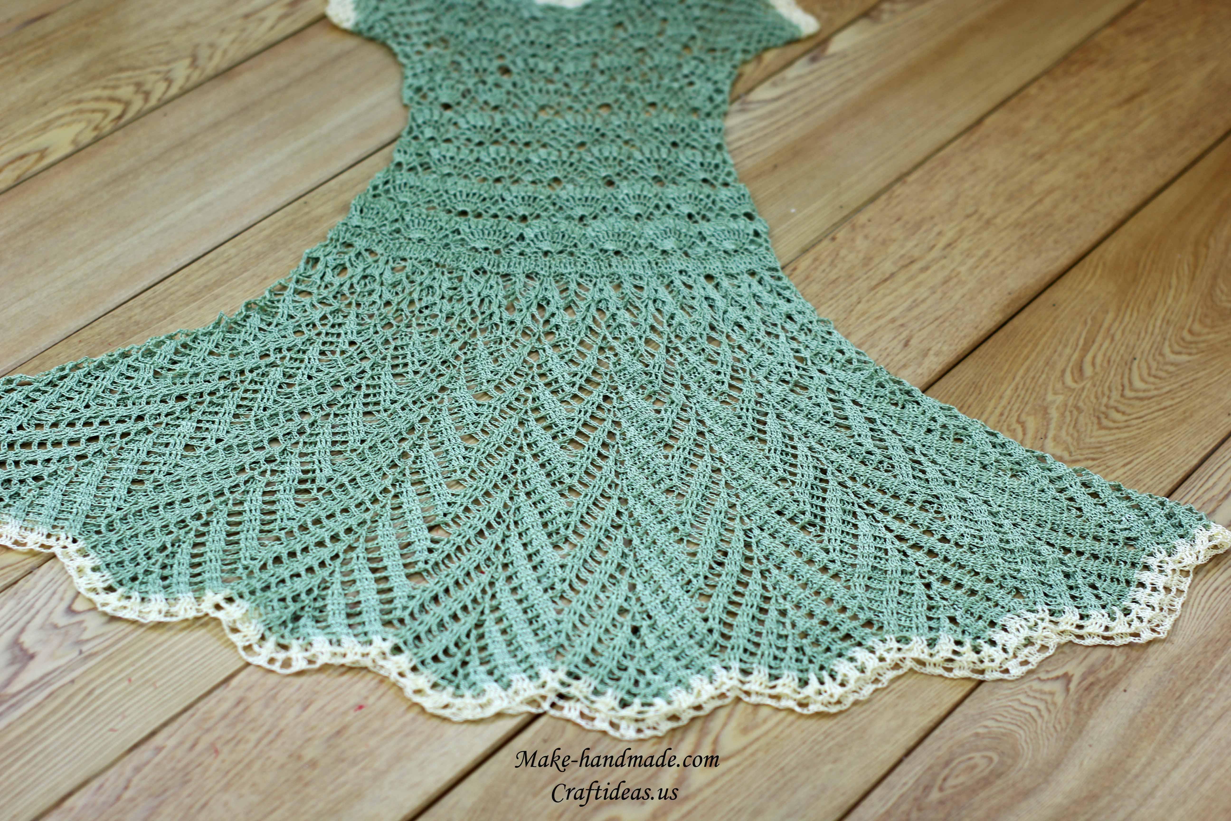 crochet charming summer lace dress for beach