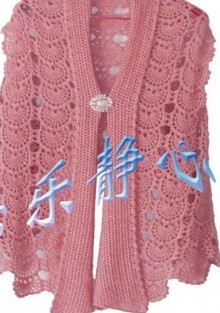 crochet halves of circle for scarf and fashion