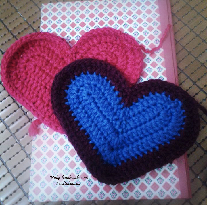 crochet heart purse and handbag for liltte girl