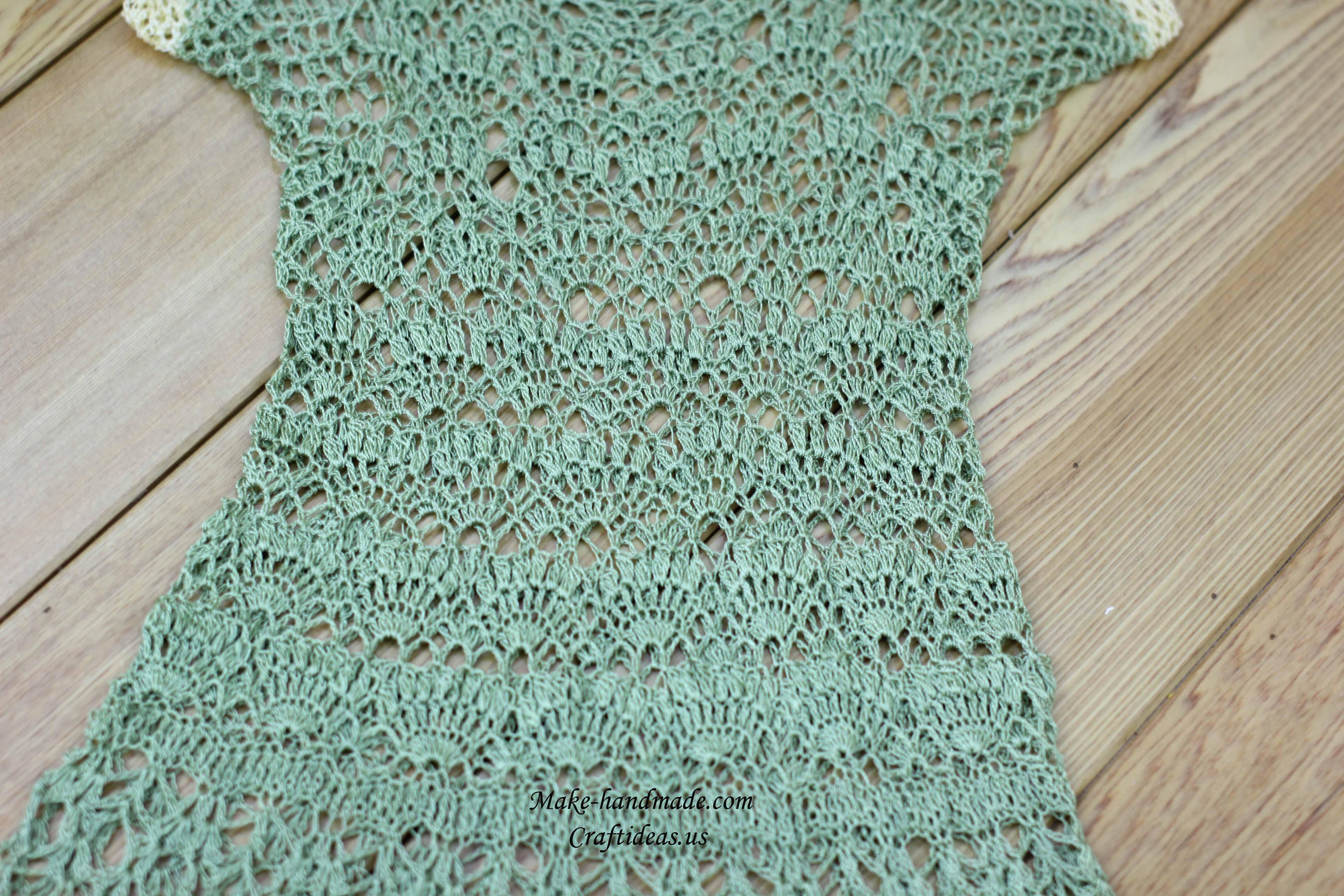 crochet lace dress for girl
