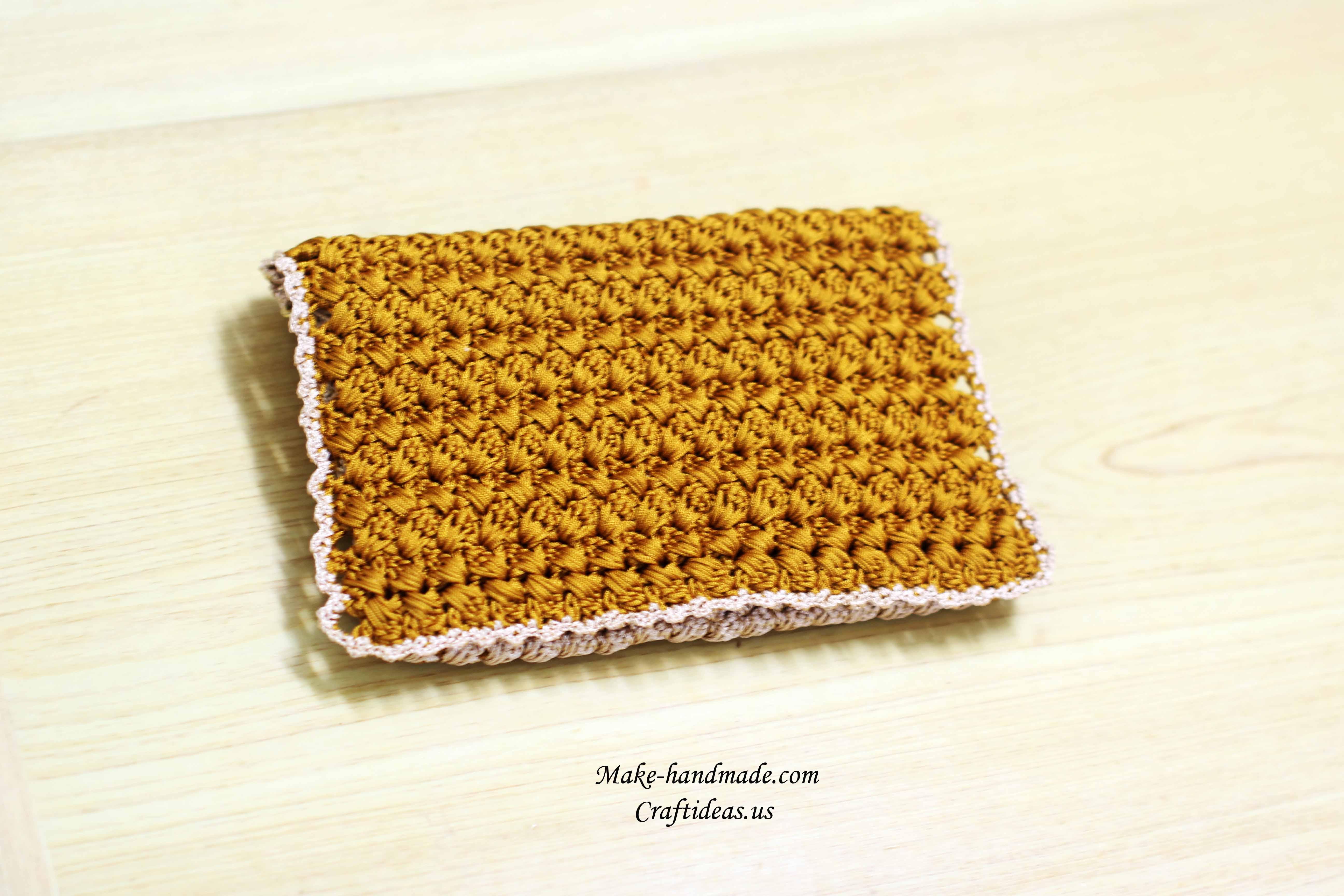 crochet mini popcorn purse