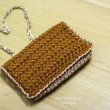 crochet popcorn handbag and purse