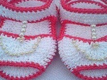 crochet so lovely baby sandals