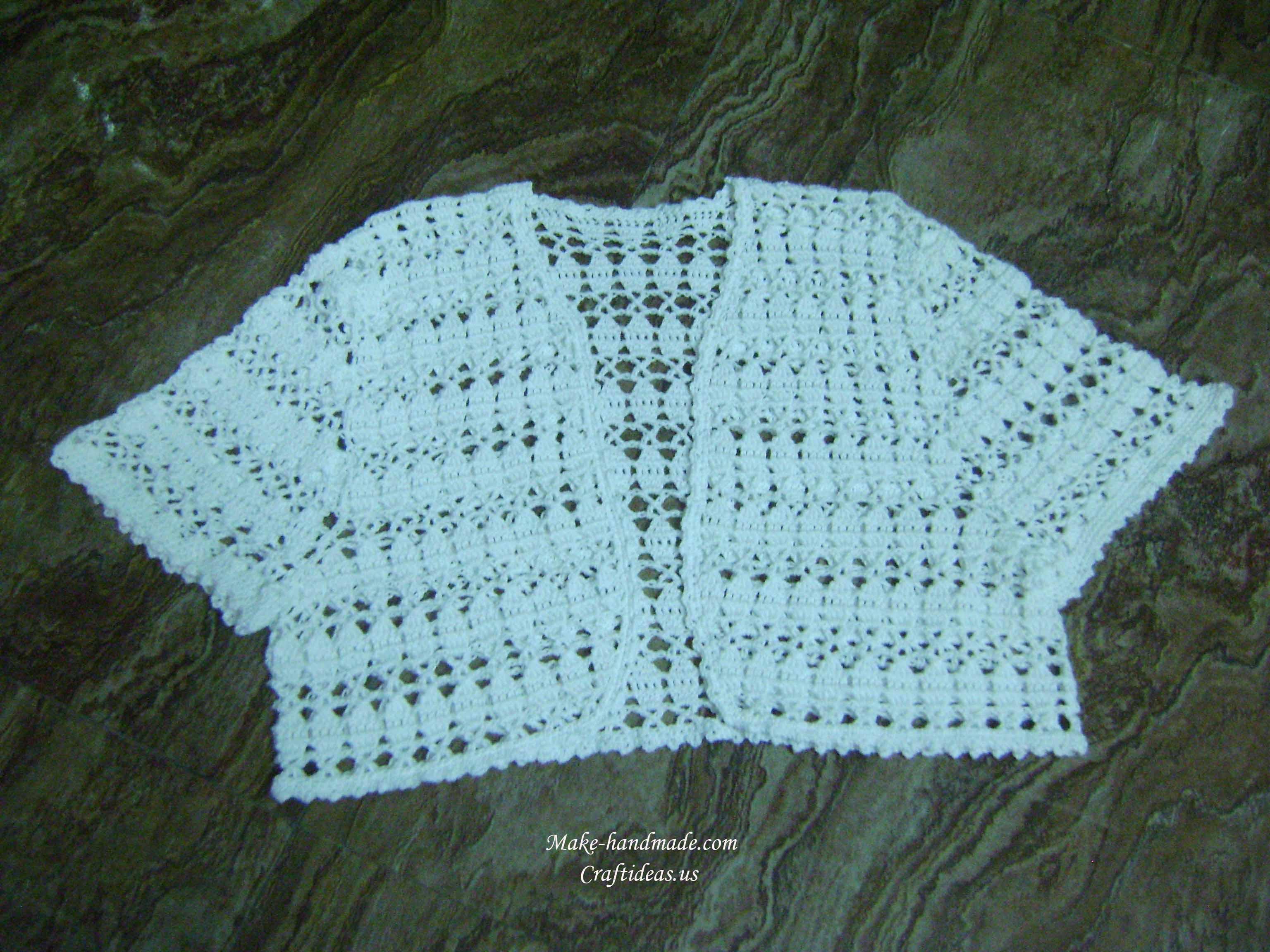crochet summer bolero