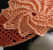 crochet twisted flower for accessories