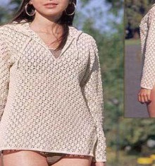 crochet lace coat for beach