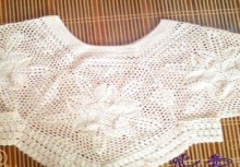crochet lace summer and spring bolero