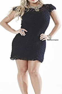 crochet so beauty black lace dress