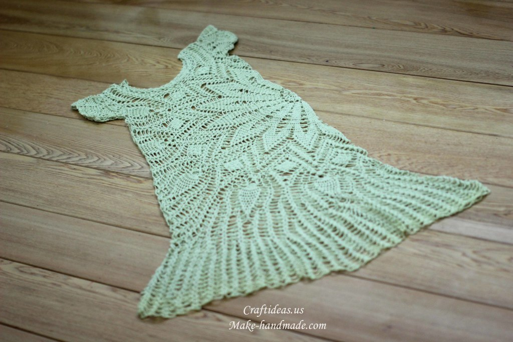 Crochet handmade dress and fashion