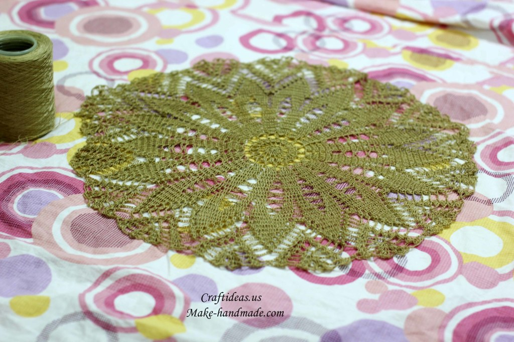 Crochet lace doily and dress