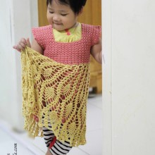 crochet pineapple baby dress ideas