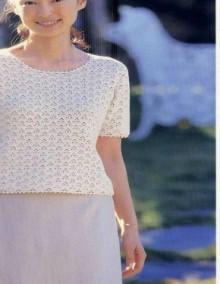 crochet beauty pullover for women