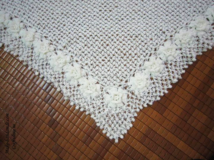 Crochet lace shawl idea