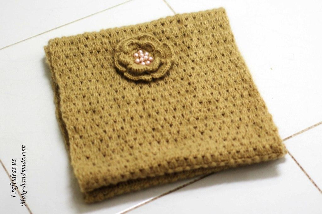 Crochet handmade scarf