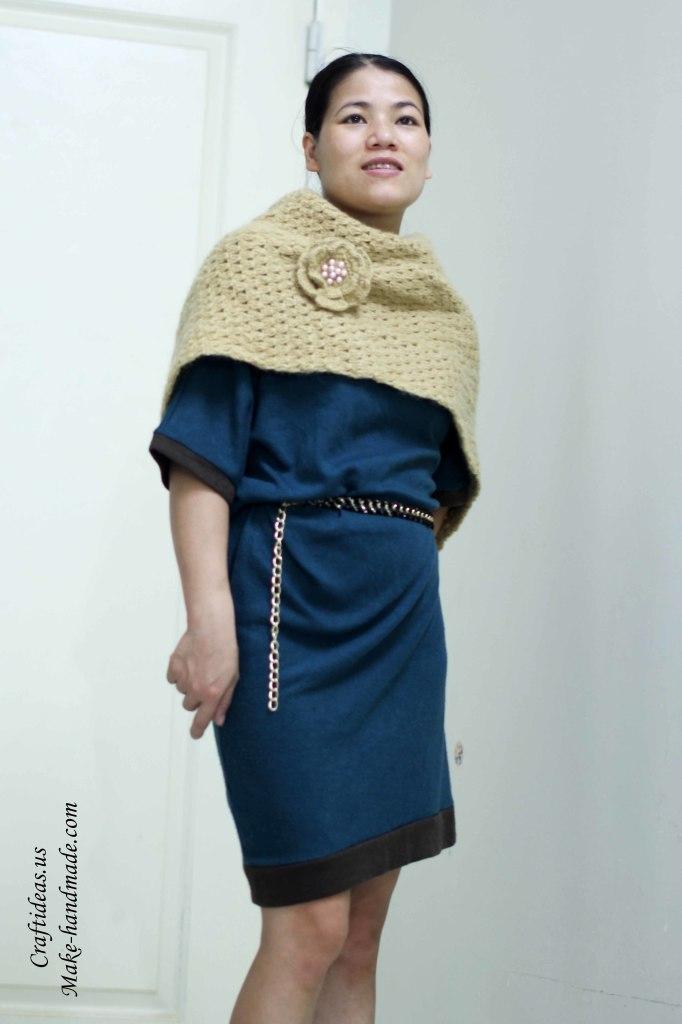 Crochet easy cowl scarf