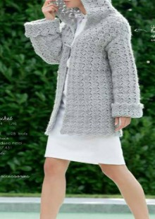 crochet long jacket for winter