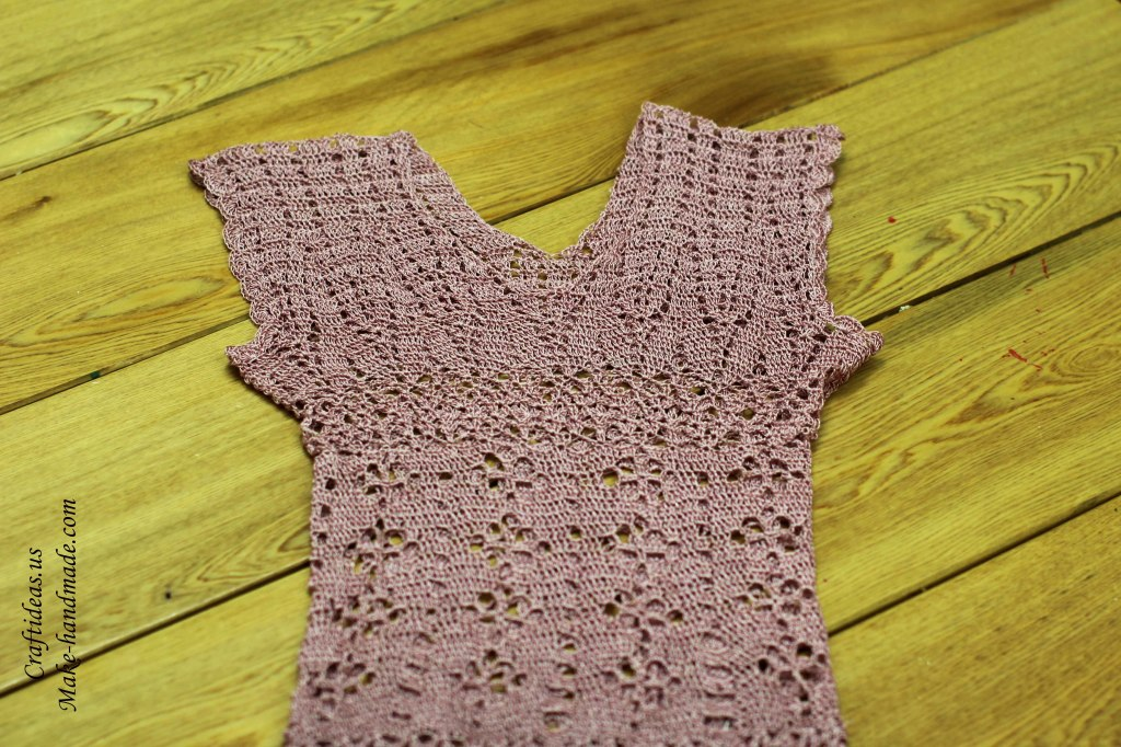Crochet so charming lace summer dress for women