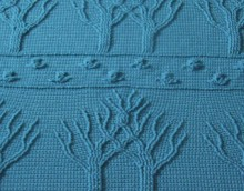 crochet trees blankets and plaid for winter