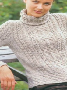 knitting beautiful cable pullover