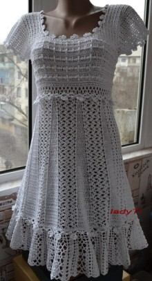 crochet beauty white lace dress