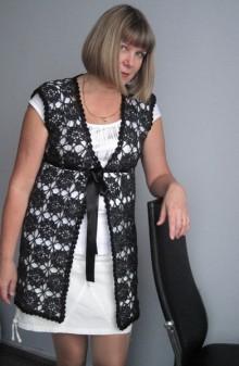 crochet lace flower jacket