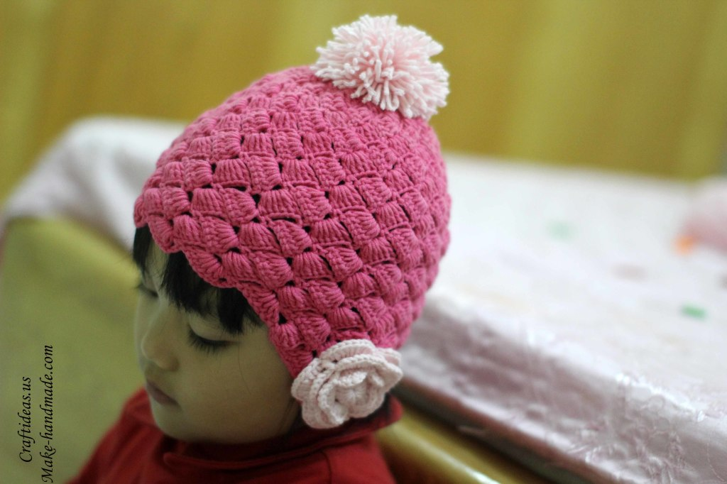 Crochet so cute hat for little princess