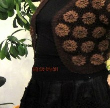 crochet cute lace flower vest for women