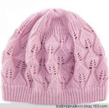 knitting leaves hat for women