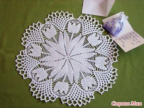 Crocchet Tulip Doily Make Handmade Crochet Craft