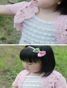crochet cute summer and spring vest for mum and kids, crochet pattern