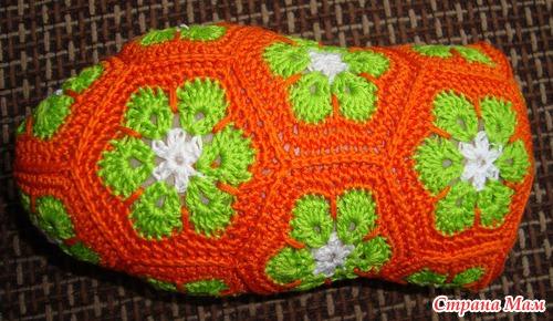 crochet frog of african flower hexagon, crochet pattern ...