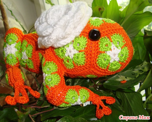 Crochet Frog Of African Flower Hexagon Crochet Pattern Make