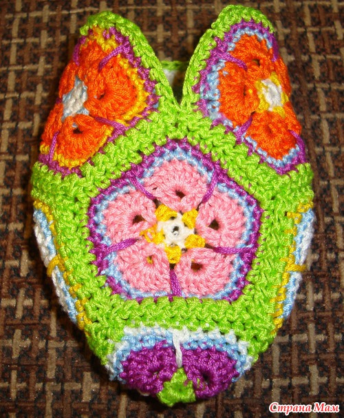 crochet little pony of african flower hexagon make ...