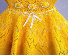 crochet yellow summer dress for little girl