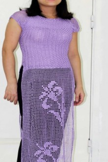 crochet beautiful vietnam dress for women