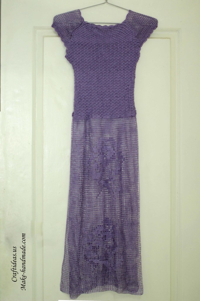 Crochet lace summer dress idea