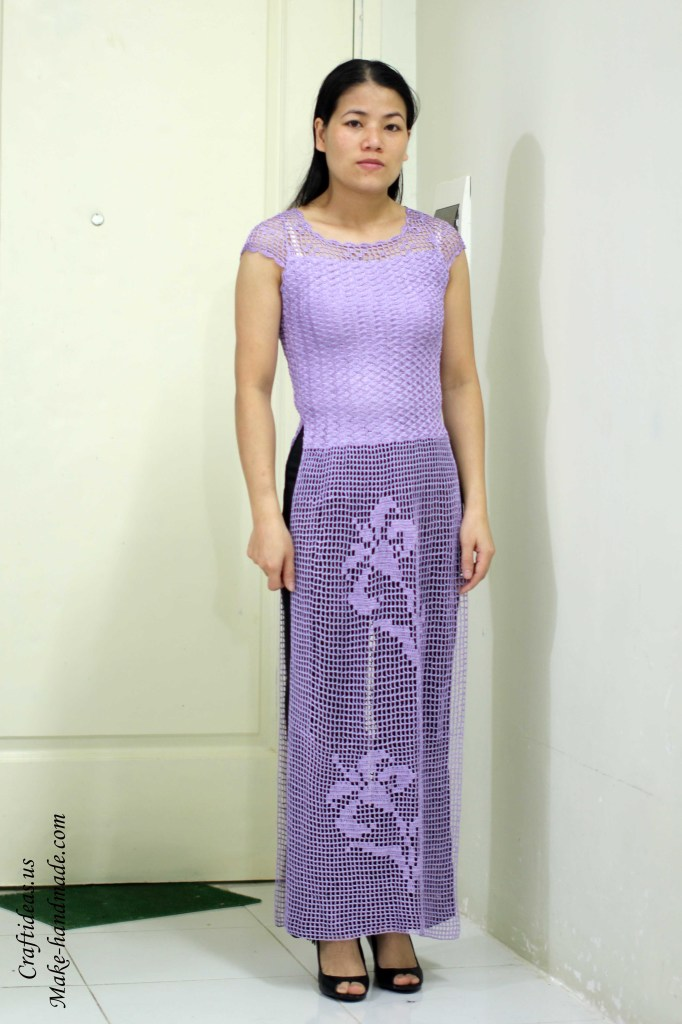 Crochet Viet nam dress of filet idea