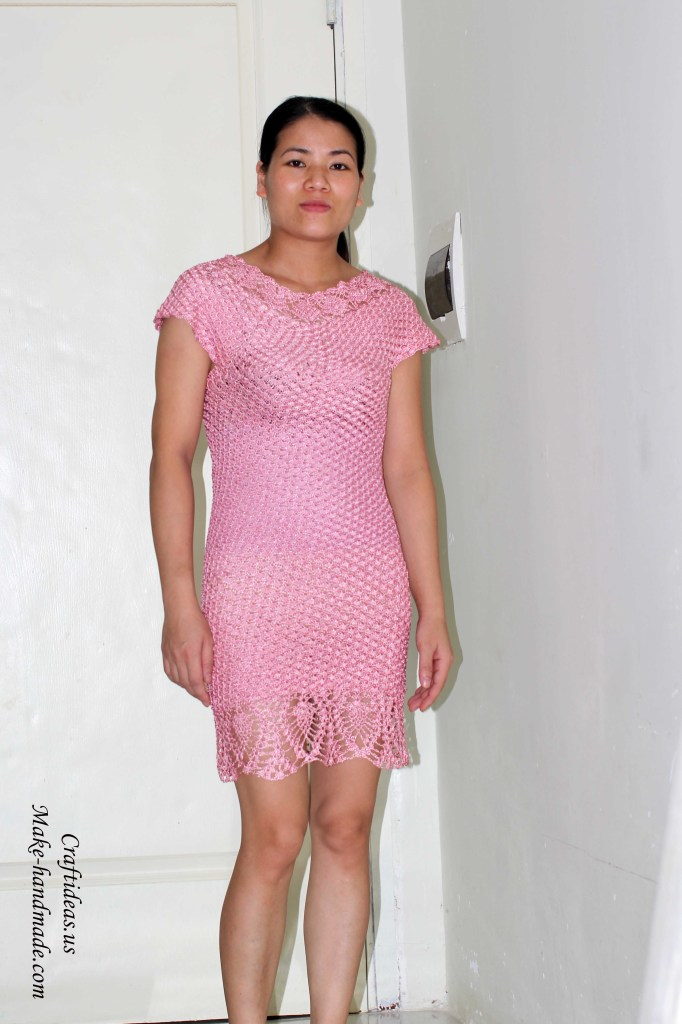 crochet beautiful women dress for summer and spring