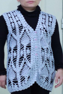crochet lace cardigan and vest for mum, crochet chart