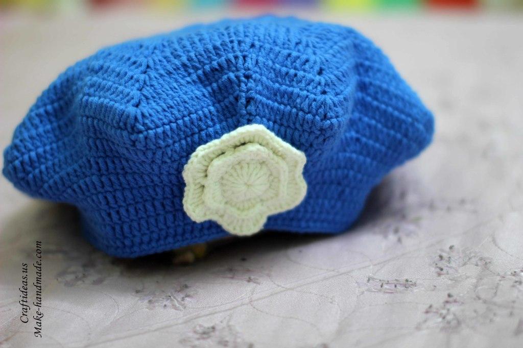 Crochet easy star beret for all