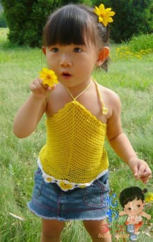 crochet beauty baby top for summer