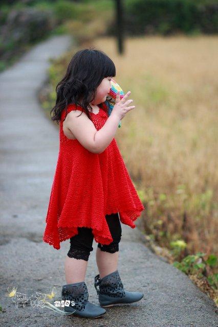 Crochet Red Summer Dress For Little Girl Make Handmade
