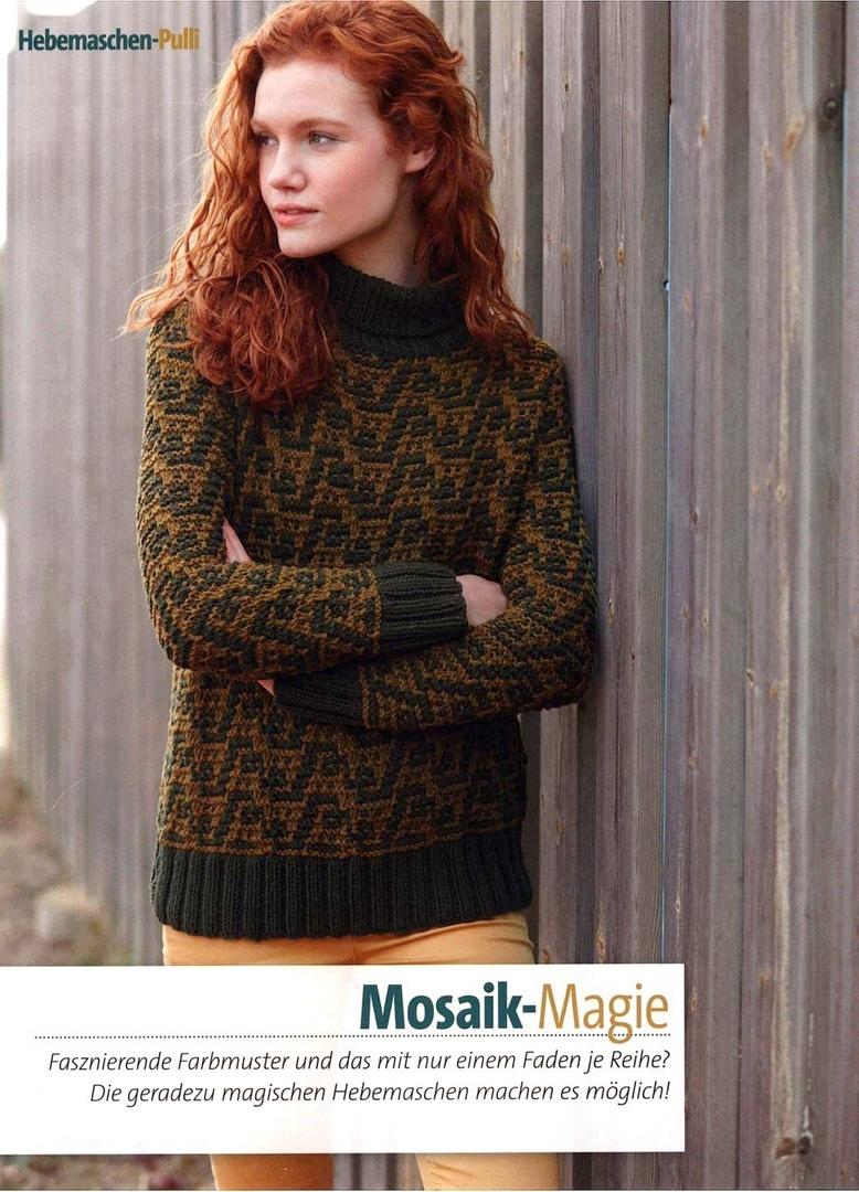 mosaic pullover idea, free knitting pattern   make ...
