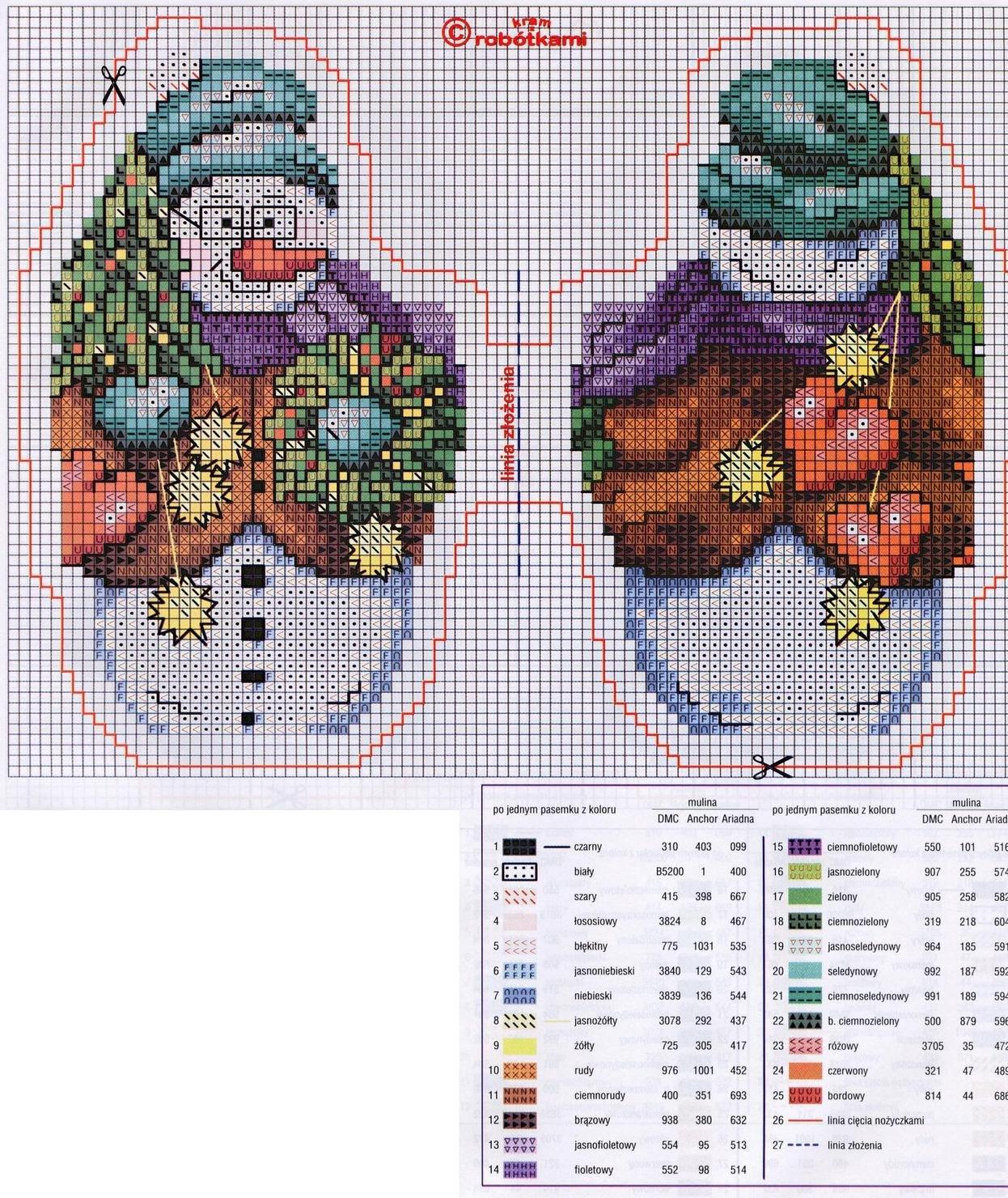 Christmas Tree Ornament Crafts: Snowman Cross Stitch Kits
